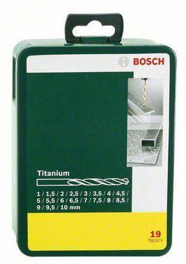 BOSCH 19 dielna sada titanových vrtákov do kovu HSS-R