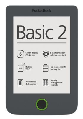 "POCKETBOOK 6"" E-INK 614 Basic2 Grey"