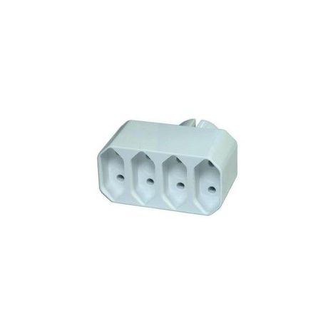 Emos P0014 - rozbočovač, 4 ploché zásuvky