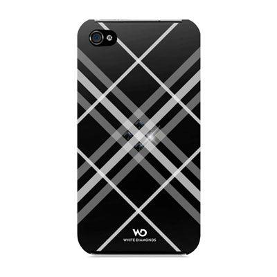 WHITE DIAMONDS grid black