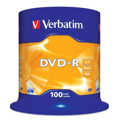 VERBATIM 100DVD-R 4,7GB 16x cake