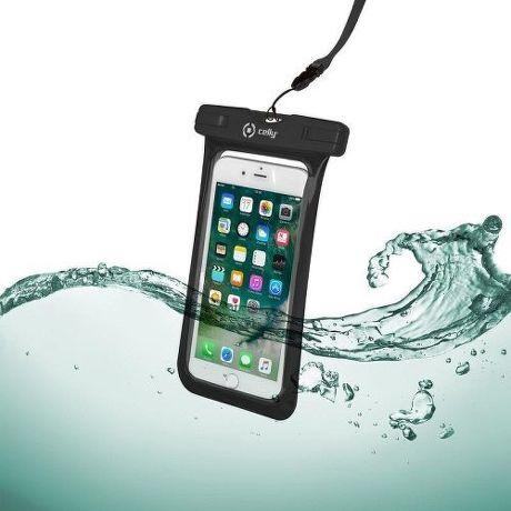 """Celly Splash Bag voděodolné pouzdro do 6,2"""", černá"""