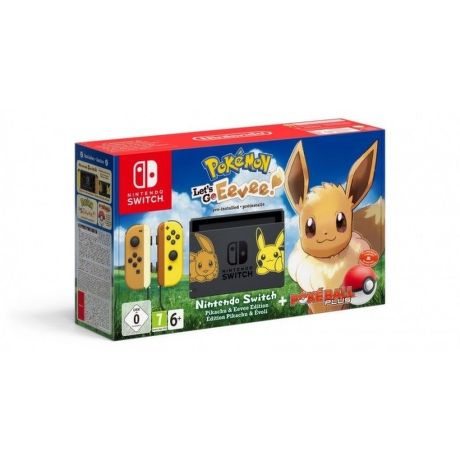 Nintendo Switch + Pokémon: Let's Go Evee! + Pokéball Plus