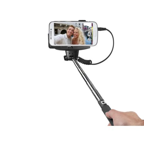 SBS Selfie tyčka, jack 3.5mm, čierna