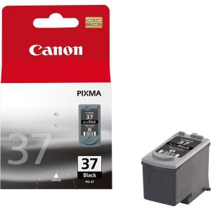 CANON PG-37, BLACK Ink Cartridge, BL SEC