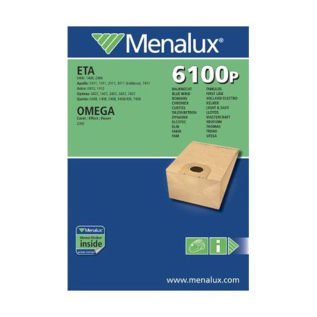 MENALUX 6100 P, vrecka do vysavaca