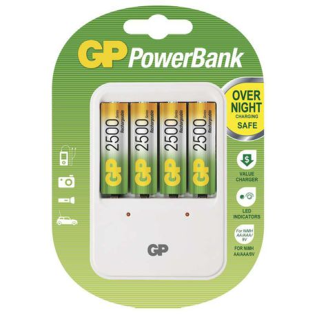 GP Power Bank 420 + 4xAA 2500mAh