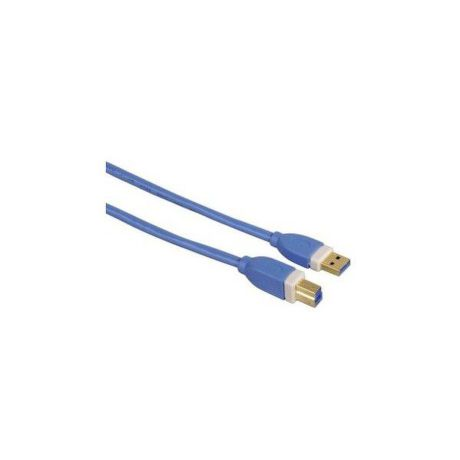 39671 Hama USB 3.0 prepájací kábel, A plug - B plug, 1,80 m, modrý