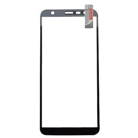 Qsklo Full Cover 2D ochranné sklo pro Samsung Galaxy J4+, černá