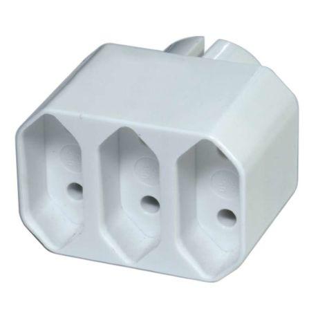 Emos P0013 - rozbočovač, 3 ploché zásuvky
