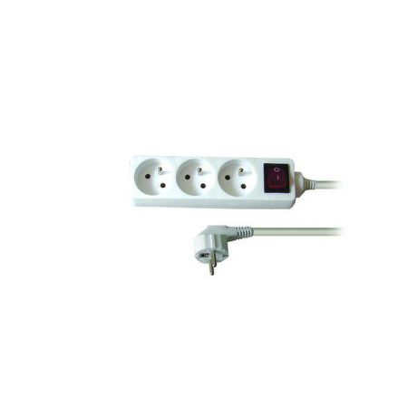 Solid PP11 - Prodlužovačka, 3 zásuvky, vypínač, 2m