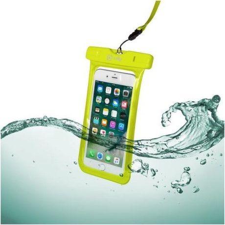 """Celly Splash Bag voděodolné pouzdro do 6,2"""", žlutá"""