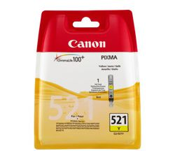 CANON CLI-521Y, YELLOW Ink Cartridge, BL SEC
