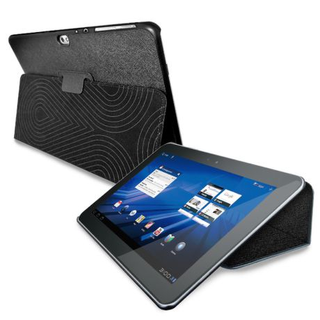 "PURO COVER + CASE GALAXY TAB 8,9"" w/stand up ECO-LEATHER BLACK"