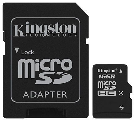 Kingston 16GB Mikro SDHC Card Class 4 - paměťová karta_3