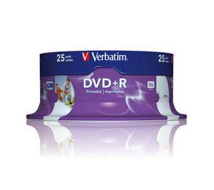 VERBATIM 25DVD+R 4.7GB 16x CAKE25 PRINTABLE