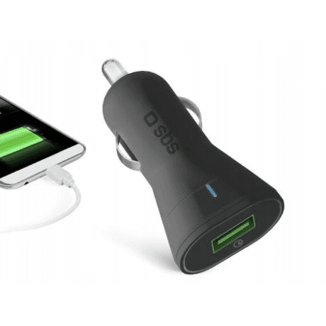 SBS USB QC autonabíječka 2,1A, černá