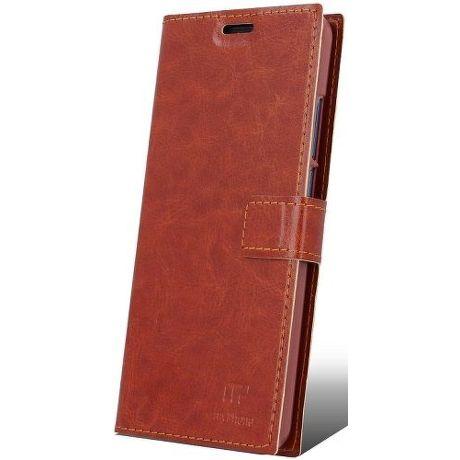 MyPhone knižkové pouzdro pro MyPhone Prime 18x9, hnědá