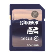 Kingston 16GB SDHC Class 4, SD4/16GB - paměťová karta
