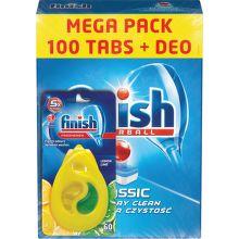 FINISH Classic 100ks + Deo tablety do myčky nádobí