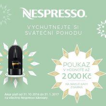 Poukaz na kávu k Nespresso kávovarům