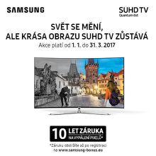 10 letá záruka na TV Samsung pro případ vypálení displeje