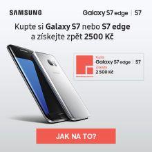 Cashback 2 500 Kč na Samsung Galaxy S7 / S7 edge