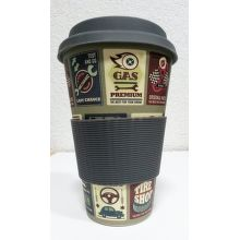 Eco Bamboo Cup Cars termo hrnek (400ml)
