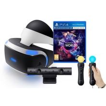 Sony PlayStation VR headset + kamera + Move Twin Pack + VR Worlds