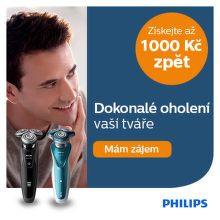 Cashback až 1 000 Kč na holicí strojky Philips