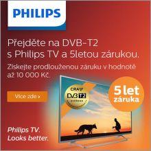 5 let záruka na televize Philips
