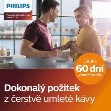 60 dní záruka vrácení peněz na Philips 5000 automatické kávovary