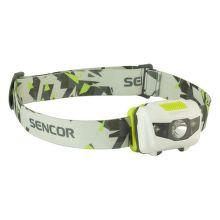 Sencor SLL 55 (bílá) - Čelová svítilna 3W+2R 3xAAA