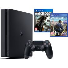 Sony PlayStation 4 1TB + Watchdogs 1+2 (černý)