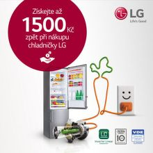Cashback až 1 500 Kč na chladničky LG