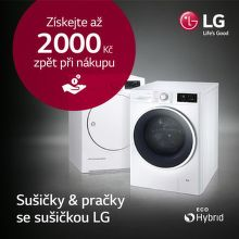 Cashback až 2 000 Kč na sušičky LG