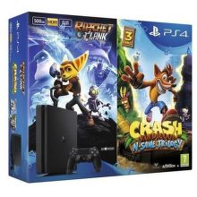 Sony PlayStation 4 Slim 500GB + Crash Bandicoot N Sane Trilogy + Ratchet & Clank černá