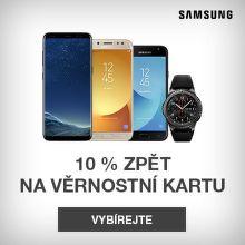 10 % zpět k nákupu mobilů nebo hodinek Samsung