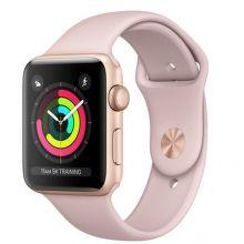 Apple Watch Series 3 42mm (zlatý hliník/pískově růžový sportovní řemínek)