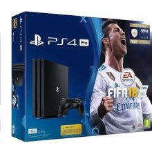 Sony PlayStation 4 Pro 1TB černý + FIFA18 + PS Plus 14 dní