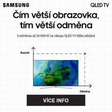 Cashback až 20 000 Kč na QLED TV Samsung