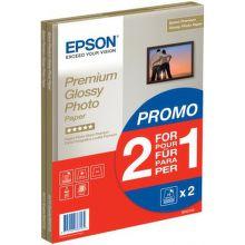 Epson S042169 premium glossy photo papír, A4, 1+1 (30 listů), 255g