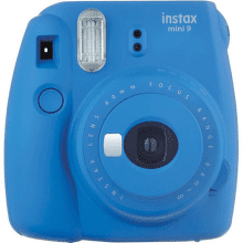 Fujifilm Instax Mini 9 modrý + Pouzdro + 10ks filmů