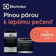 Cashback až 3 000 Kč na trouby Electrolux s parní funkcí