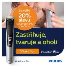 Sleva 20 % na náhradní břity k Philips OneBlade