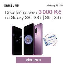 Dodatečná sleva 3 000 Kč na Samsung Galaxy S8 / S9