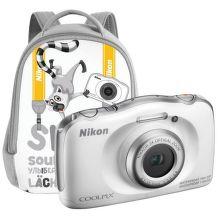 Nikon CoolPix S33 Backpack KIT (bílý)