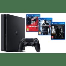 Sony PlayStation 4 1TB+DriveClub+Uncharted 4: Thiefs End+The Last of Us (černá)