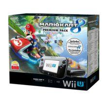 Nintendo Wii U Premium Pack (černý)+Mario Kart 8