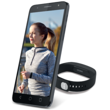 Alcatel 5056D (stříbrný) a fitness náramek
